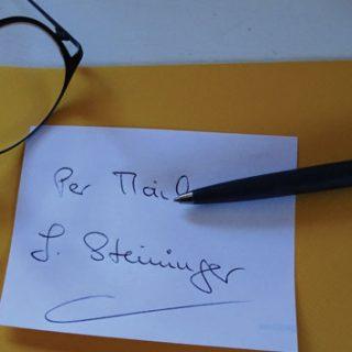 brief Herrn steininger